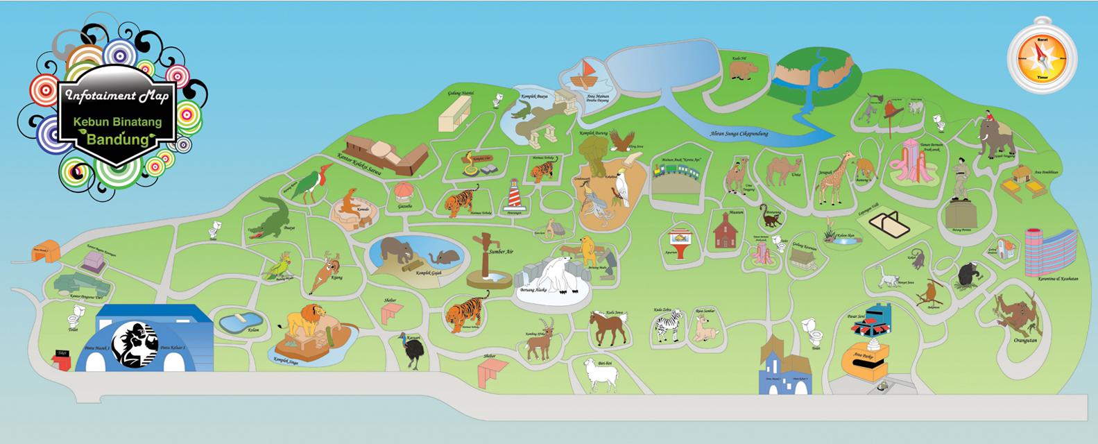 Peta Lokasi Kebun Binatang Bandung